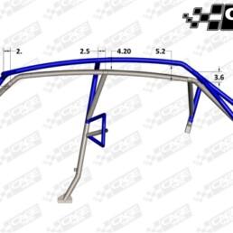 Polaris RZR XP4 1000 Turbo Cage